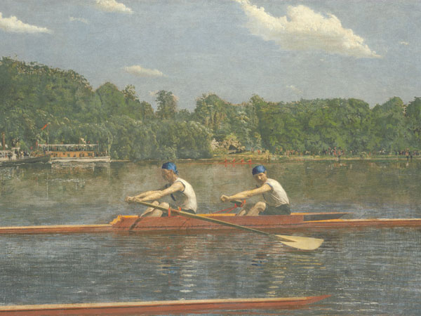 Thomas Eakins, The Biglin Brothers Racing, 1872, oil on canvas, Courtesy National Gallery of Art, Washington