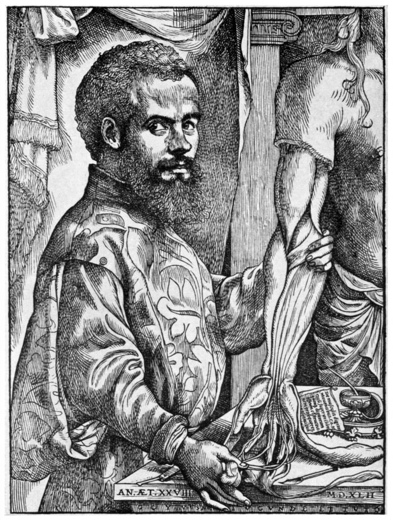 Frontispiece of Vesalius' <i>De humani corporis fabrica</i> - Image credit: Art Resource