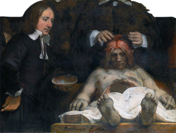 Rembrandt, The Anatomy Lesson of Dr. Deijman - Image credit: Amsterdam Museum, Amsterdam