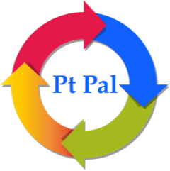PT Pal logo multicolored circle with arrows